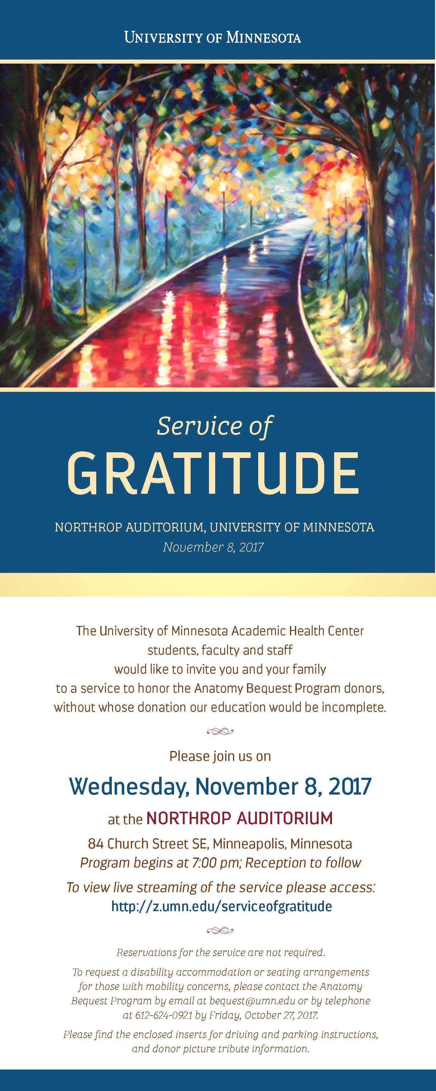 Service of Gratitude | Medical School - University of Minnesota