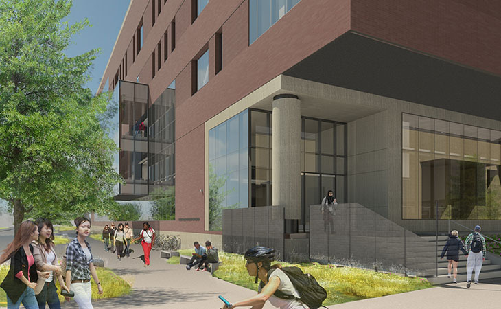 Rendering of the University's Health Sciences Education Center