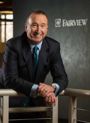 Portrait of James Hereford, Fairview Health Services president and CEO