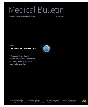 Medical Bulletin Cover showing a human cell
