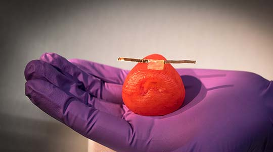 "3-D printed silicone-based inks  ""tuned"" to precisely match the mechanical properties and look and feel of each patient's prostate tissue."