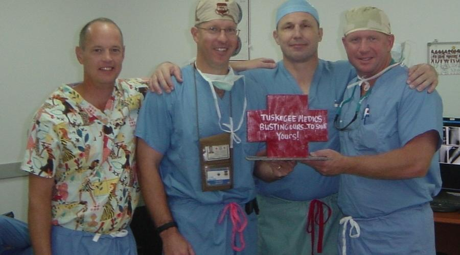 Eric Nelson, MD, with Air Force Orthopaedic Team