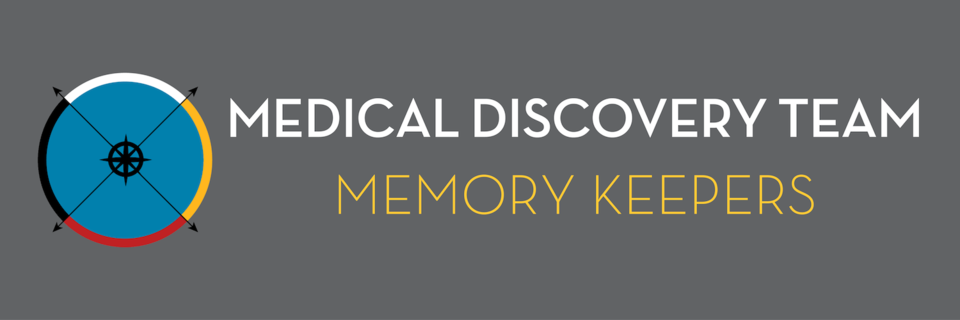 Medicine Wheel with text: Medical Discovery Team- Memory Keepers