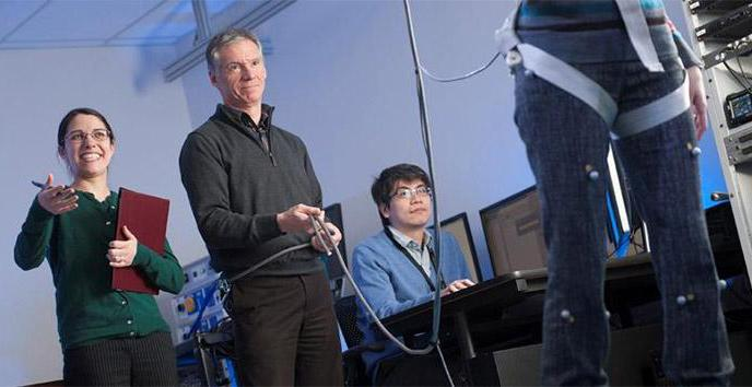 Students and professor using motion technology for learning and research