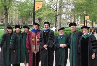 Faculty and Deans at graduation