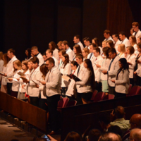 Students at 2018 White Coat Ceremony