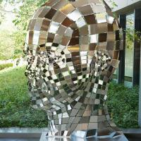 A sculpture of a human head in the Center for Magnetic Resonance Research