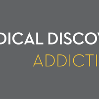 Pills with text: Medical Discovery Team- Addiction